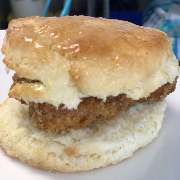 Honey Butter Chicken Biscuit!