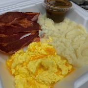 Two Eggs with Turkey Bacon