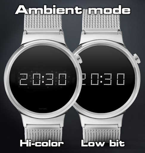 Download LED watch face | Vintage | Seventies Amber MOD APK 4