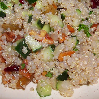 Quinoa Again? Quinoa Salad with Raspberry Vinaigrette