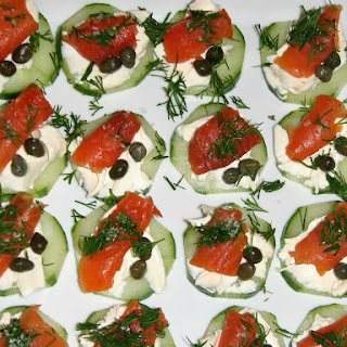 Cucumber and Smoked Salmon Appetizer.
