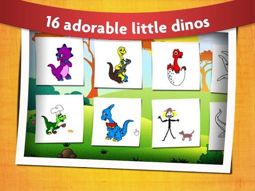 Kids Dinosaur Coloring Pages - Free Dino Game screenshots 2