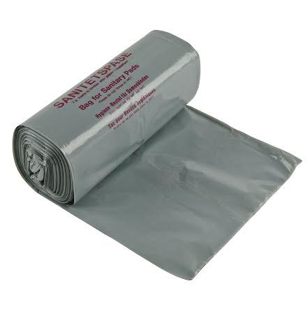 Sanitetspåse plast grå  100/rl