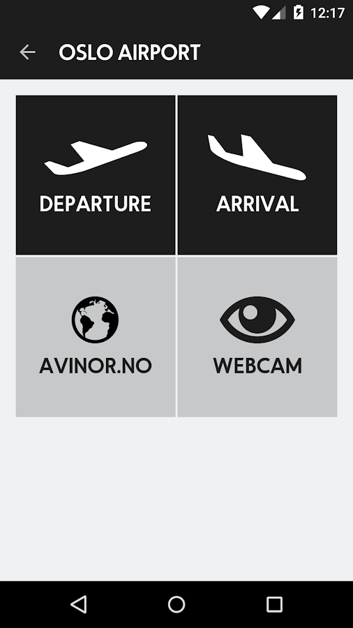 Avinor Flights- screenshot