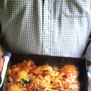 Baked Aubergine with Cheese and Tomato