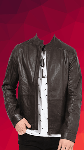 Man Leather Jacket Photo Suit screenshot 3
