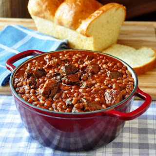 Maple Chipotle Pulled Pork and Beans.