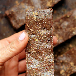 Salted Chocolate Fudge No-Bake Protein Bars