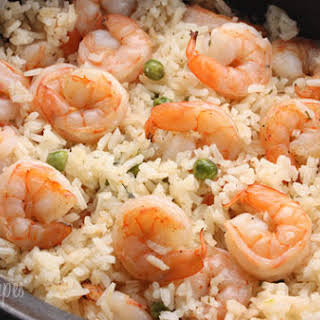 Shrimp, Peas and Rice.