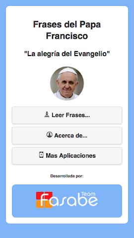 android Frases del Papa Francisco Screenshot 0