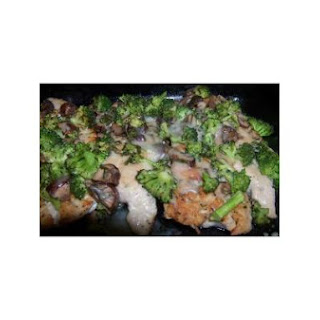 Savory Broccoli, Mushroom and Turkey Cutlets