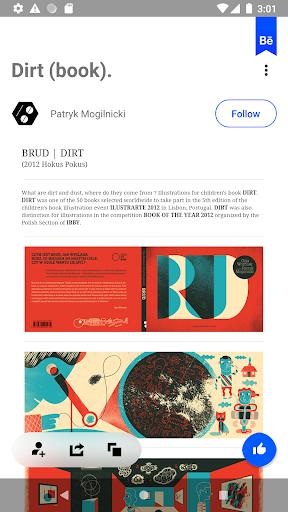 Behance: Photography, Graphic Design, Illustration screenshots 4