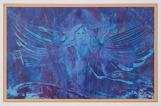 Photo: BLAUER  ENGEL   -  Acryl auf Leinen  -  150 x 100 cm