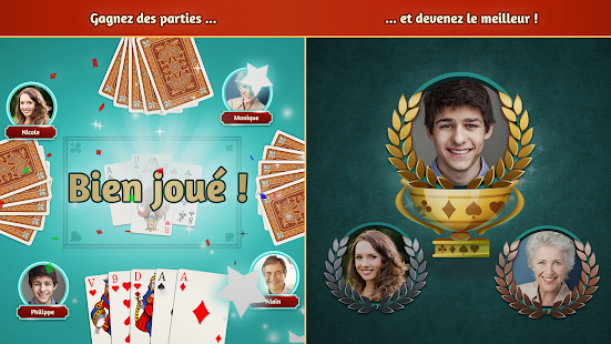 Belote.com - Jeu de cartes de Belote gratuit Capture d'écran