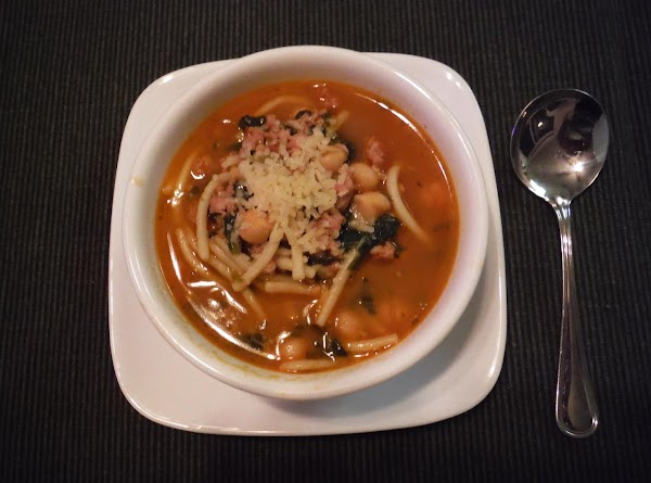 Spicy Sausage And Pasta Soup Recipe