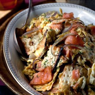 Matzo, Lox, Eggs and Onions