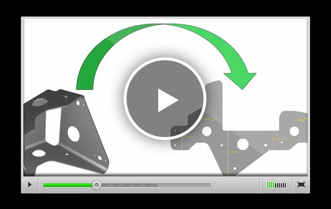 Развертка 3D-обьекта в RADAN 3D