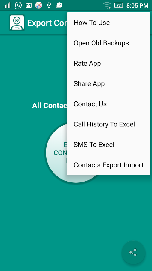 Contact To Excel- screenshot