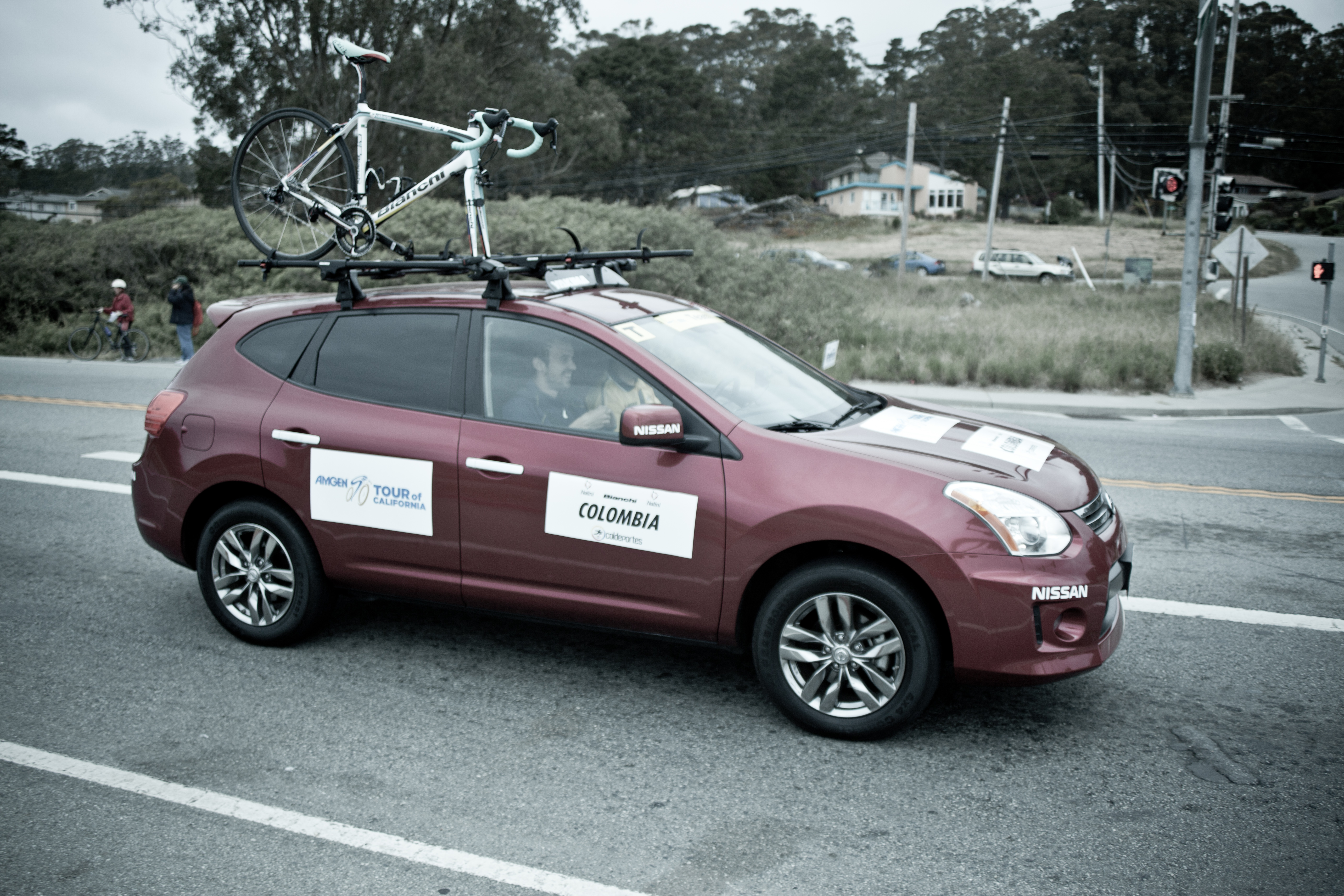 Photo: Columbia Team Car before the sprint