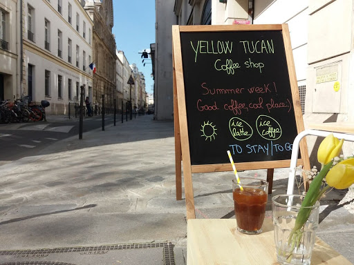 Yellow Tucan Coffee shop Outside Spring