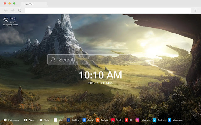 Valley New Tab Page HD Wallpapers Themes