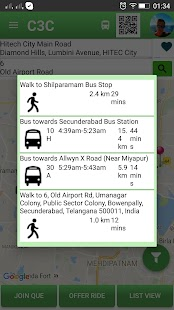 C3C CabCarpool, city bus, Chat- screenshot thumbnail
