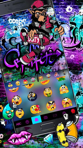 Skate Graffiti Keyboard Theme 1.0 screenshots 3