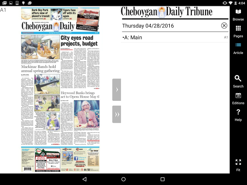 Скриншот Cheboygan Daily Trib eEdition