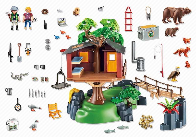 Contenido Real de Playmobil® 5557 Casa del Árbol de Aventuras