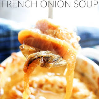 Slow Cooker Blue Cheese French Onion Soup.
