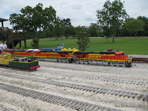 Photo: Scott Weatherford and his BNSF diesels.  HALS-SLWS 2009-0522