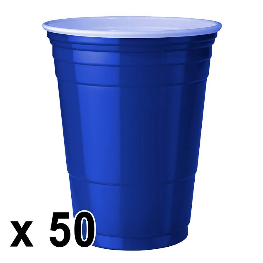 50 kpl. Blue Cups Mukeja (473 ml./16 Oz.)