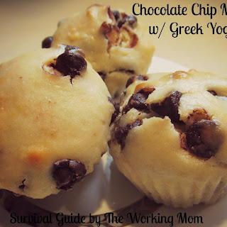 Greek Yogurt Chocolate Chip Muffin.