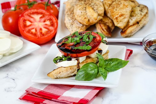 Caprese Chicken Stacker With Reduced Balsamic