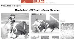 Siete abonos siete tenía la Feria Taurina de Almería en sus buenos momentos.