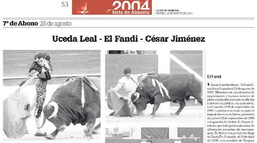Recuerdos de 2004: lo mejor en toros, flamenco y conciertos pop