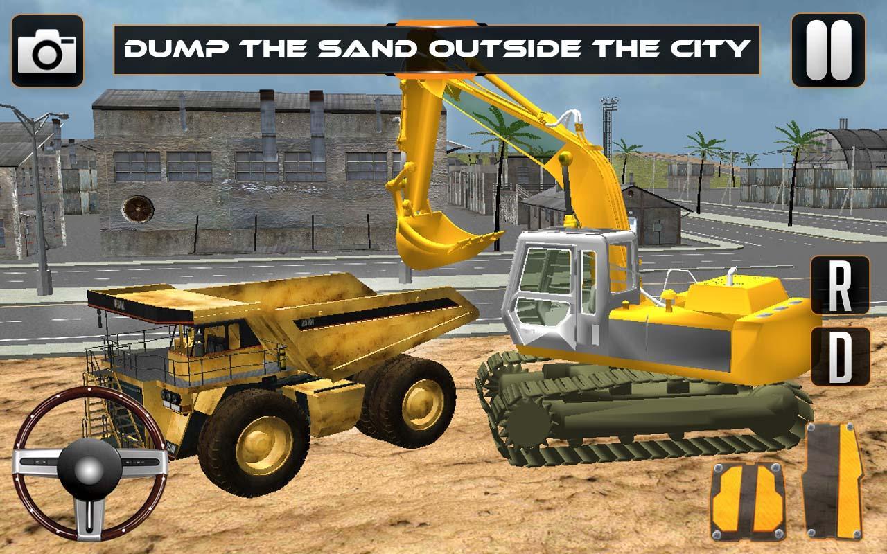 Sand-Excavator-Crane-Sim 22