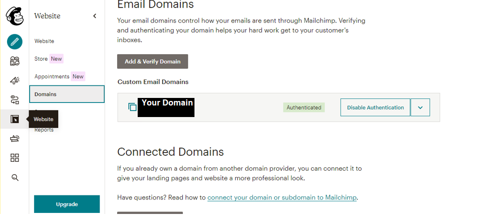 How to authenticate your website for mail chimp -Lia infraservices