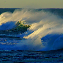 A spot of light 4 by Gaylord Mink - Landscapes Waterscapes ( waves, ocean, light, water, mist )