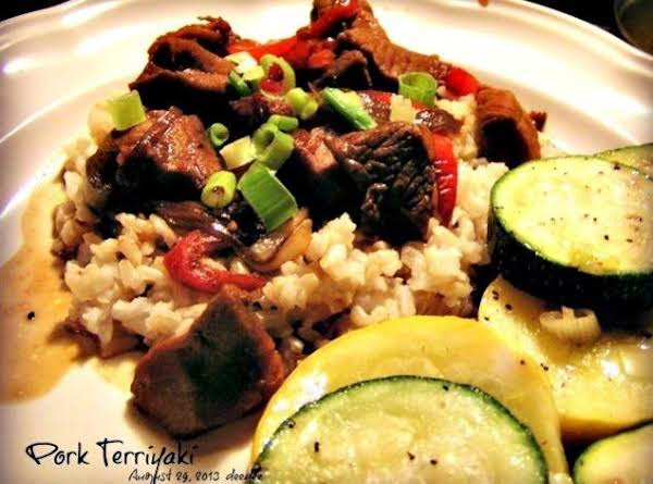 Pork Teriyaki Over Brown Rice