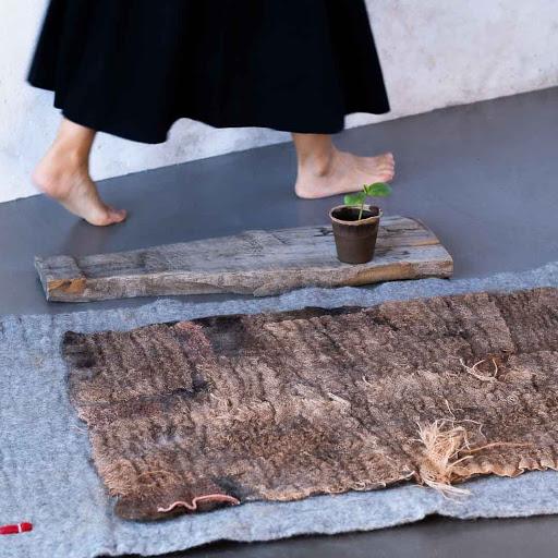 Textile Laine Feutrée Japon Wabi Sabi