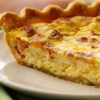 Bacon and Cheese Quiche.