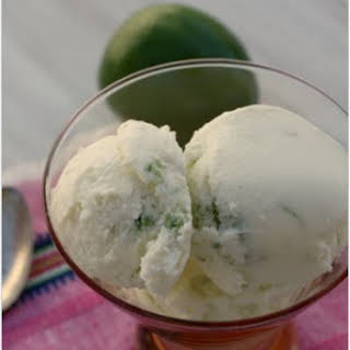 Lime Zest Ice Cream.