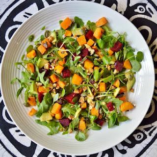 Butternut Squash, Beetroot and Avocado Salad GF SCD