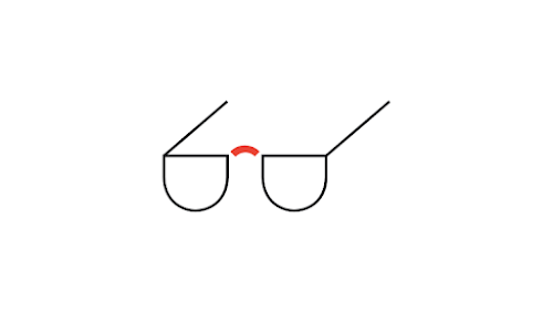 Illustration of reading glasses