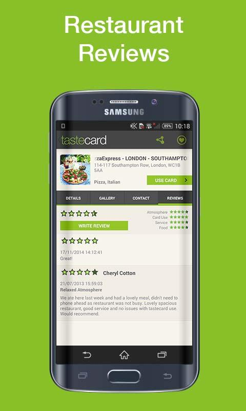 tastecard Restaurant Discounts- screenshot