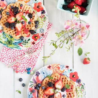 Healthy Vegan Chia Waffles