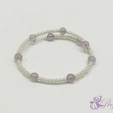[PLC017] 紫玉珍珠手鐲