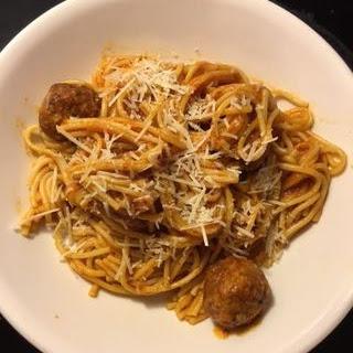 Fast & Easy Pressure Cooker Spaghetti & Meatballs.