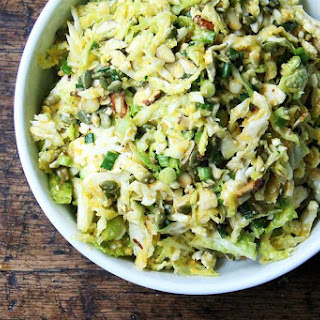 Cabbage Slaw with Miso-Carrot Dressing.